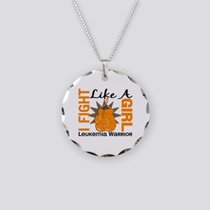 Licensed Fight Like a Girl 8 Necklace Circle Charm