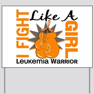 Licensed Fight Like a Girl 8.2 Leukemia Yard Sign