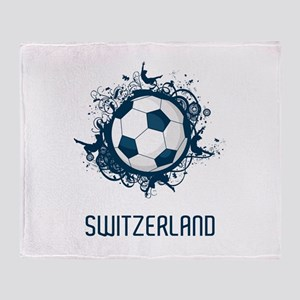 Switzerland Football Throw Blanket