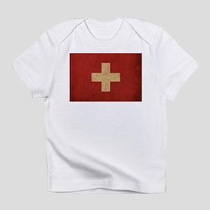 Vintage Switzerland Flag Infant T-Shirt