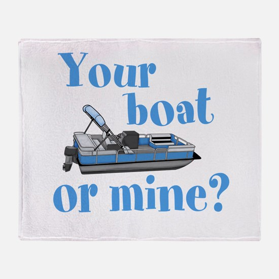 Your Boat or Mine? Throw Blanket