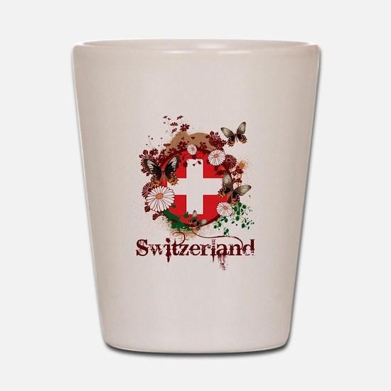 Butterfly Switzerland Shot Glass