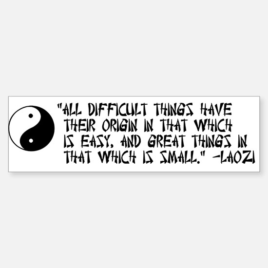 Laozi quote bumper sticker