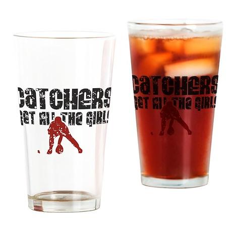 Catchers get all the girls Pint Glass