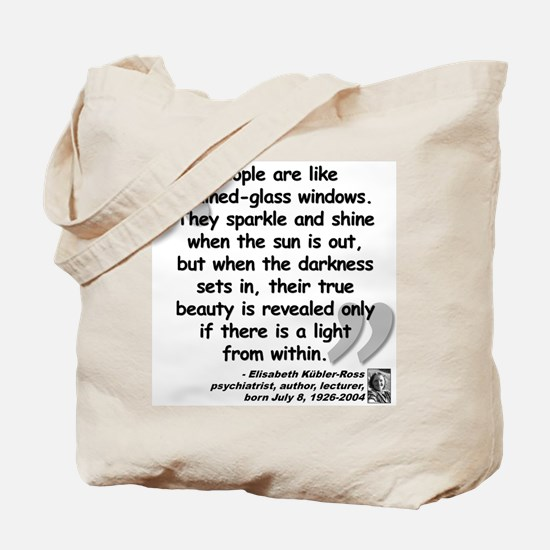 Kübler-Ross Light Quote Tote Bag