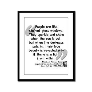 Kübler-Ross Light Quote Framed Panel Print