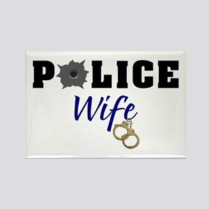 Police Wife Rectangle Magnet