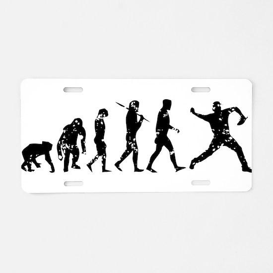 Evolution Pitcher Aluminum License Plate