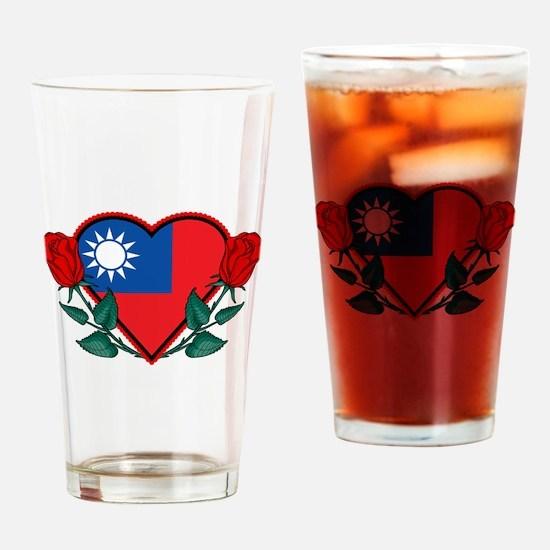 Heart Taiwan Pint Glass