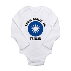 Made In Taiwan Long Sleeve Infant Bodysuit