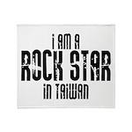 Rock Star In Taiwan Throw Blanket