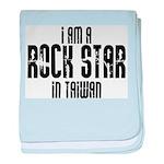 Rock Star In Taiwan baby blanket
