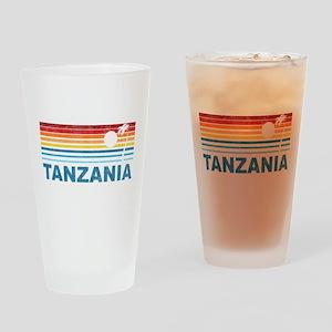Retro Palm Tree Tanzania Pint Glass
