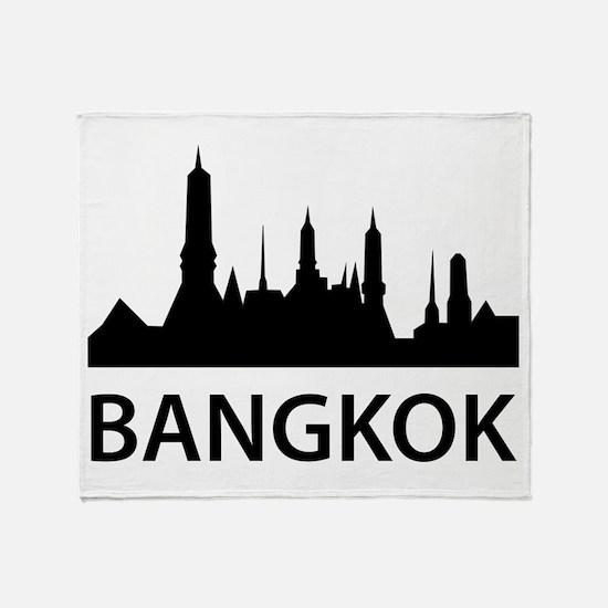 Bangkok Skyline Throw Blanket
