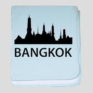Bangkok Skyline baby blanket