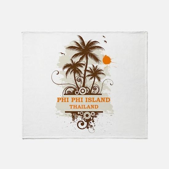 Phi Phi Island Thailand Throw Blanket