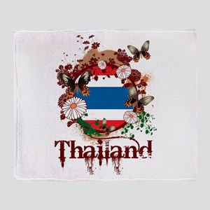 Butterfly Thailand Throw Blanket