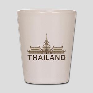 Vintage Thailand Temple Shot Glass