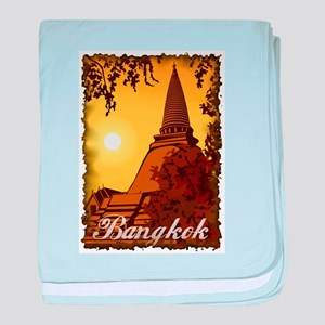 Vintage Bangkok baby blanket