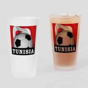 Tunisia Football Pint Glass