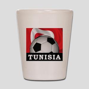 Tunisia Football Shot Glass