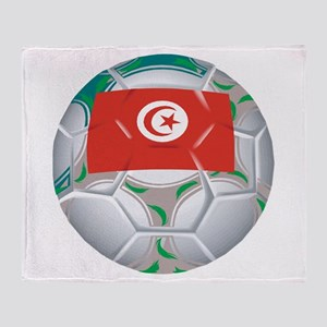 Tunisia Soccer Throw Blanket