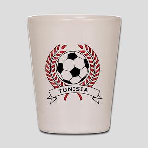 Soccer Tunisia Shot Glass
