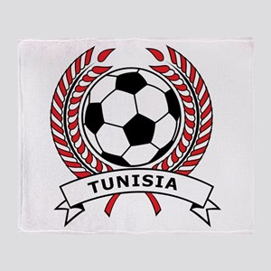 Soccer Tunisia Throw Blanket