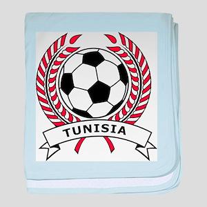 Soccer Tunisia baby blanket