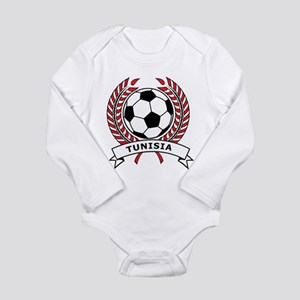Soccer Tunisia Long Sleeve Infant Bodysuit