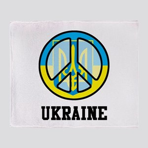 Peace In Ukraine Throw Blanket