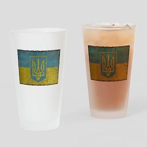 Vintage Ukraine Pint Glass
