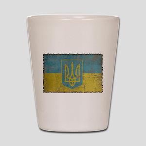 Vintage Ukraine Shot Glass