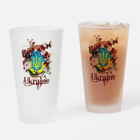 Butterfly Ukraine Pint Glass