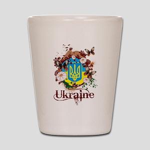 Butterfly Ukraine Shot Glass