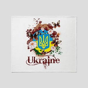 Butterfly Ukraine Throw Blanket