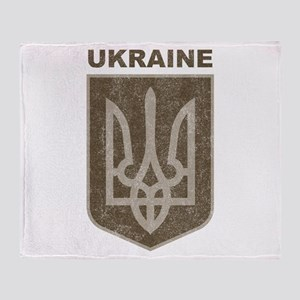 Vintage Ukraine Throw Blanket