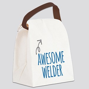 Awesome welder Canvas Lunch Bag