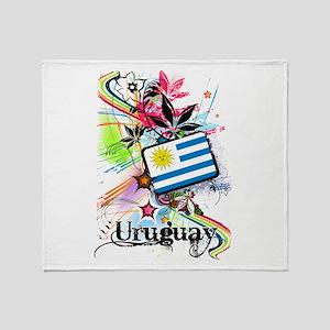 Flower Uruguay Throw Blanket