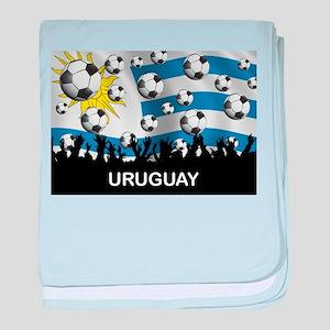 Uruguay World Cup baby blanket