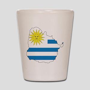 Map Of Uruguay Shot Glass