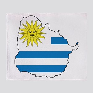 Map Of Uruguay Throw Blanket