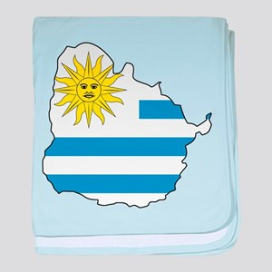 Map Of Uruguay baby blanket