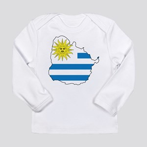 Map Of Uruguay Long Sleeve Infant T-Shirt