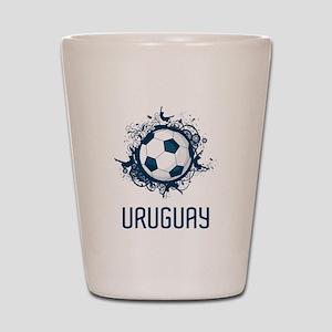 Uruguay Football Shot Glass