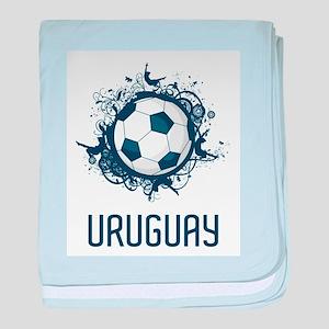 Uruguay Football baby blanket