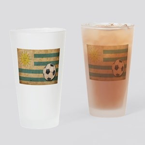 Vintage Uruguay Football Pint Glass