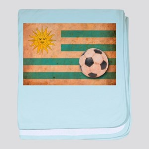 Vintage Uruguay Football baby blanket
