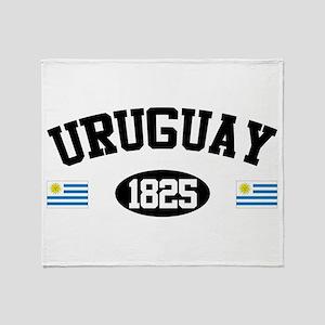 Uruguay 1825 Throw Blanket