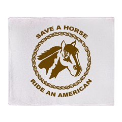 Ride An American Throw Blanket